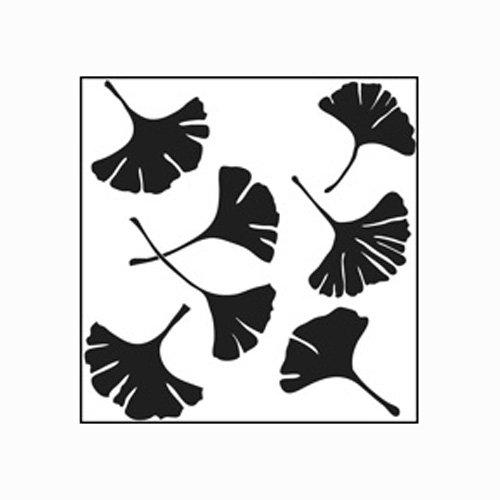 Stencil 6X6 Ginkgo Leaves