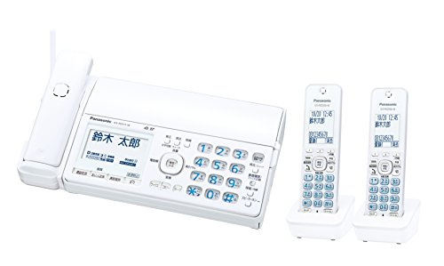 パナソニック デジタルコードレスFAX 子機2台付き 迷惑電話対策機能搭載 ホワイト KX-PD515DW-W