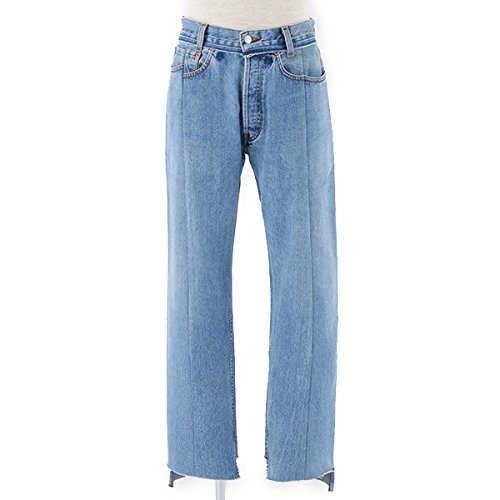 VETEMENTS ヴェトモン Levis Classic Reworked Denim Trousers カットオフ ハイウエスト デニム ジーンズ リーバイス PA3LBL カラーBlue Blue/ウォッシュブルー [並行輸入品]