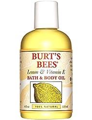 バーツビーレモンとビタミンEバス、ボディオイル118ミリリットル (Burt's Bees) - Burt's Bees Lemon and Vitamin E Bath and Body Oil 118ml [並行輸入品]