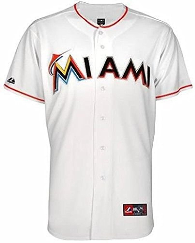 Miami Marlins MLBマジェスティックホームホワイトレプリカジャージービッグトールサイズ