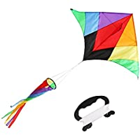 pagacat Kite Rainbow Delta Kite for Kids with Spinningテール(米国Stock )