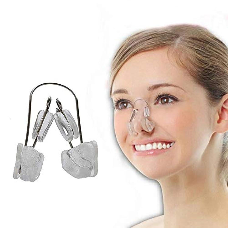 ねじれ多分報復するLindexs ないノーズアップピン ノーズアップピン 美鼻クリップ 鼻高く 鼻筋 矯正 (クリア)
