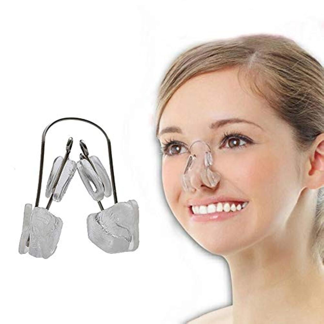 喜ぶ衝突職業Lindexs ないノーズアップピン ノーズアップピン 美鼻クリップ 鼻高く 鼻筋 矯正 (クリア)