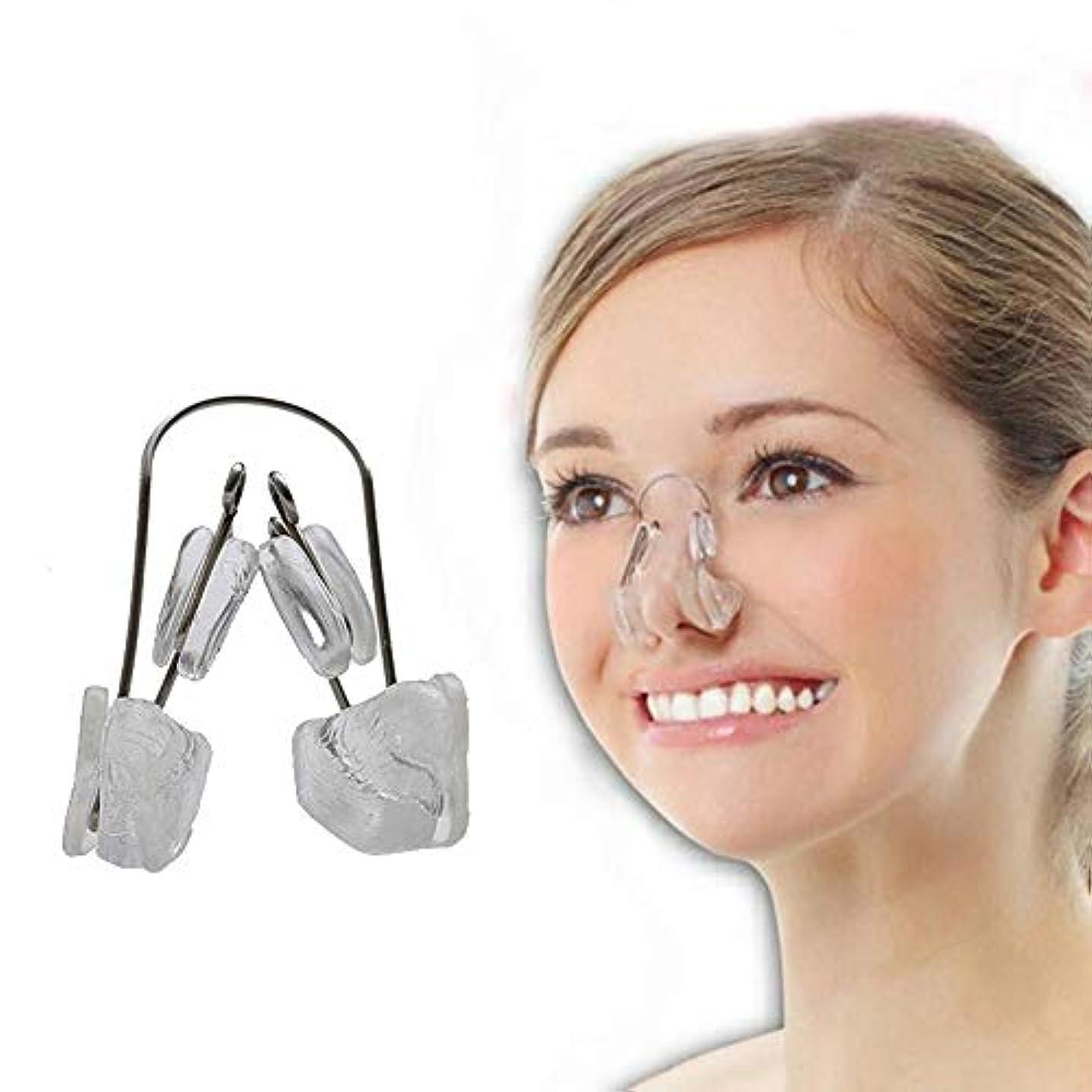 予防接種するアナロジー召喚するLindexs ないノーズアップピン ノーズアップピン 美鼻クリップ 鼻高く 鼻筋 矯正 (クリア)