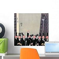 Men Top Hats Wall Wall Mural by Wallmonkeys Peel and Stick Graphic (18 in W x 17 in H) WM352214 [並行輸入品]