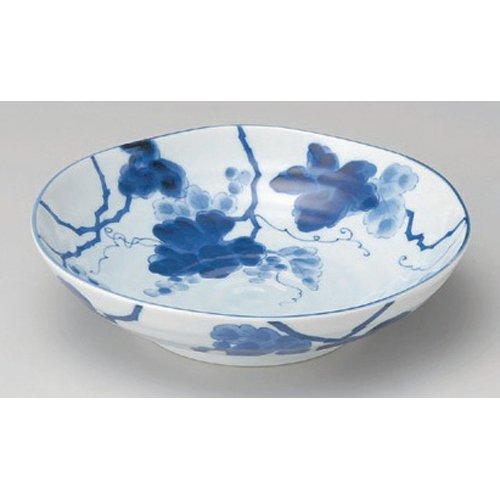3個セット 組鉢 藍染ぶどう5.5浅鉢 [17 x 5cm] 美濃焼 料亭 旅館 和食器 飲食店 業務用