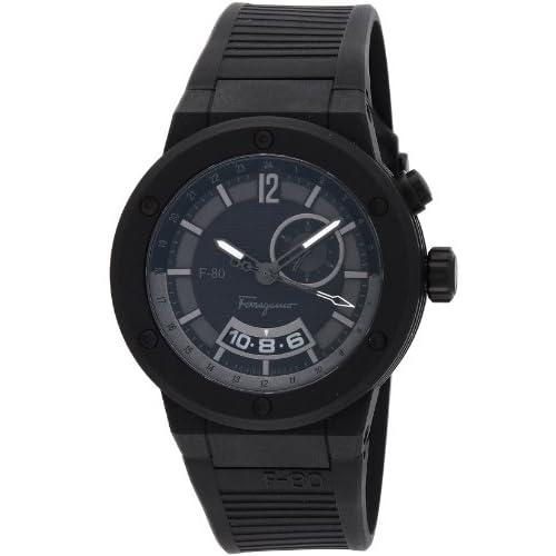 [サルヴァトーレ・フェラガモ]Salvatore Ferragamo 腕時計 F-80 ブラック文字盤 カーボンケース F55LGQ6877S113 メンズ 【並行輸入品】