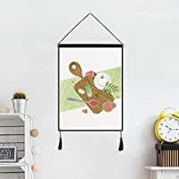 LUOSAI 春水彩画の新鮮なタペストリーの壁の装飾画の寝室の背景布布の絵画 (Size : D)