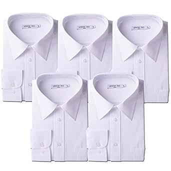 (アトリエサンロクゴ) atelier365 ワイシャツ 形態安定 長袖白Yシャツ全20サイズ 5枚セット/ 6041-set-sm-zaiko-3L-45-82