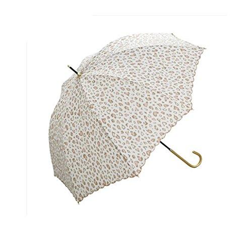 (ライフスター)lifestr 日傘 晴雨兼用 軽量 紫外線 UV カット 可愛い ハート ヒョウ柄 (オリジナルエコバッグ付き)
