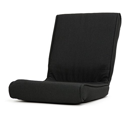 座椅子 コンパクト こたつ 椅子 フロアーチェア クローゼット 収納可能「秋月」 ( 折りたたみタイプ ) (ブラック色)