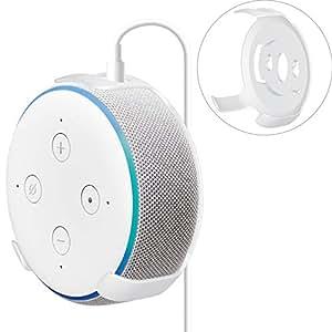 エレコム Amazon Eco Dot 第3世代 スマートスピーカー 専用ホルダー 専用ホルダー WallMountCase 壁掛け ホワイト AIS-AED3H1WH