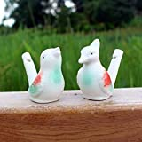 Himalayan Range Porcelain Bird Water Whistles, real bird singing,Nostalgic music bath toys(4 Bird)