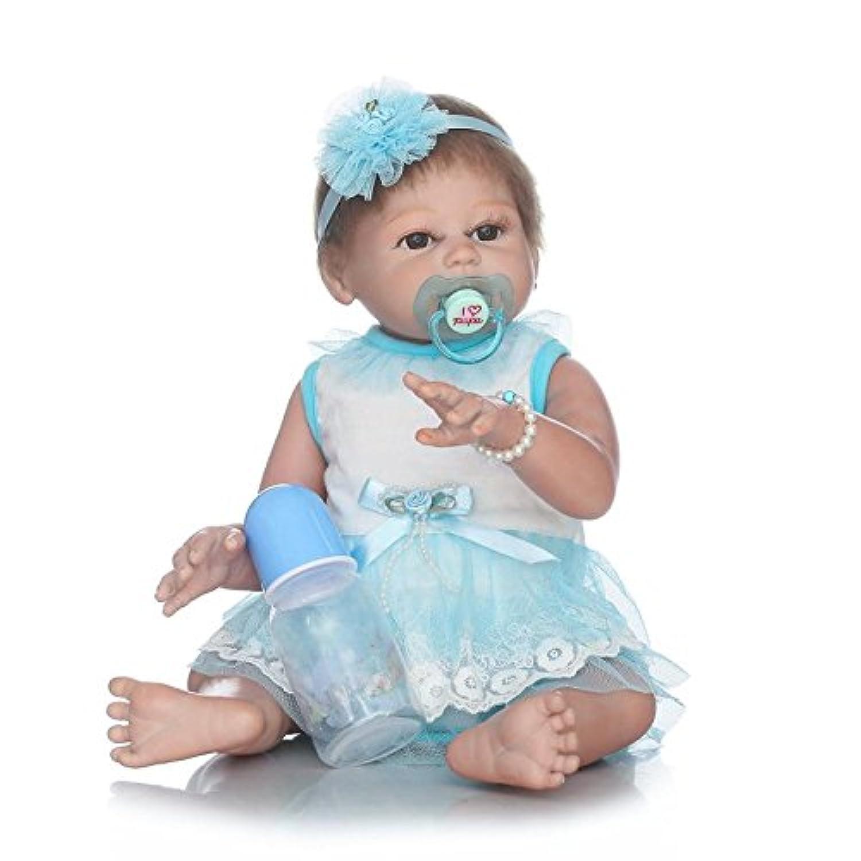 ピンキー50 cm 20インチビニールシリコンフルボディGirl新生児Lifelike人形Rebornベビー人形磁気口ダミー
