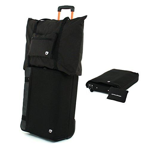 DOPPELGANGER フォルダブルスーツケース [機内持ち込みサイズ対応] 折りたたみキャリーバッグ パッカブル式アウターバッグ付属 合計容量約70L(目安:3~5泊) DCB277-BK