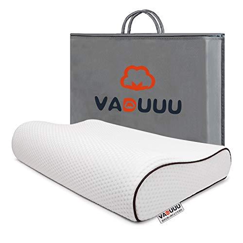 VADUUU 枕 低反発枕 人気 安眠マクラ 首・頭・肩をやさしく支える 健康枕 肩こり対策 いびき防止 頚椎サポート ヘルスケア枕 カバー付き 家族のプレゼント おすすめ