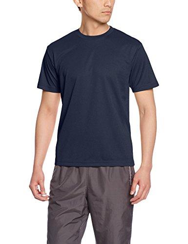 (グリマー)glimmer 4.4オンス ドライTシャツ(クルーネック) 00300-ACT 031 ネイビー 09 4L