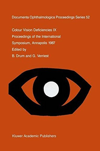 Colour Vision Deficiencies IX: Proceedings of the ninth symposium of the International Research Group on Colour Vision Deficiencies, held at St. John's ... Ophthalmologica Proceedings Series)