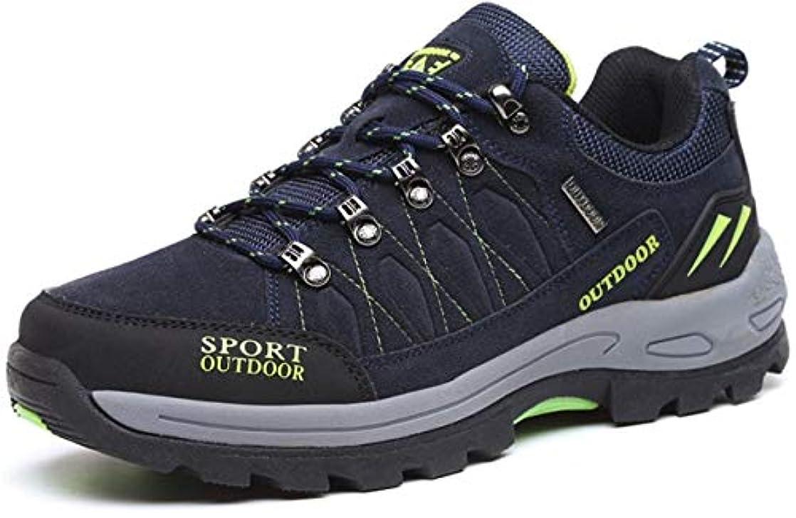 相関する多年生ボーナス[ヒロハン] トレッキングシューズ ハイキングシューズ スニーカー 登山靴 大きいサイズ スエード ウォーキングシューズ 耐摩耗性 アウトドア キャンプ 幅広 メンズ