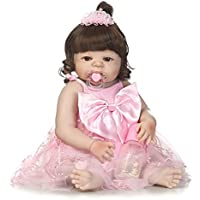 SanyDoll Rebornベビー人形ソフトSilicone 22インチ55 cm磁気Lovely Lifelike Cute Lovely Baby b0763lz9ny