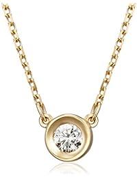 4℃(ヨンドシー) ダイヤモンドベゼル K18イエローゴールド(YG)ネックレス 111031123002