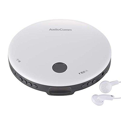 OHM AudioComm ポータブルCDプレーヤー ホワイト_CDP-820Z-W 07-8960