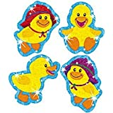 Trend Enterprises トレンド Sparkle Stickers Large Baby Ducks 【ごほうびシール】 キラキラ ひよこ ご褒美シール 大 (40枚入り) T-63312