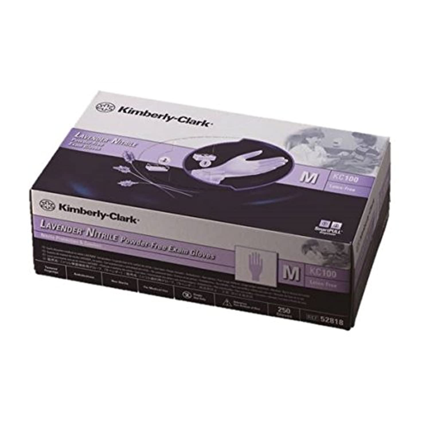 バット西問題ラベンダー ニトリル グローブ 10 箱