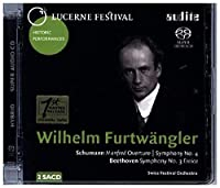 ベートーヴェン:交響曲第3番『英雄』、シューマン:交響曲第4番、『マンフレッド』序曲 ヴィルヘルム・フルトヴェングラー&ルツェルン祝祭管弦楽団(195