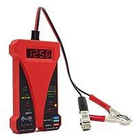 デュアルUSB充電器 電圧計付き レッド 0609B