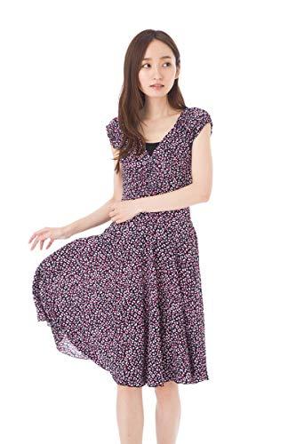 24577453d68e0 エジェリ(EGERIE)ワンピース TU(T1相当)サイズ フレンチ袖 ひざ丈ワンピース