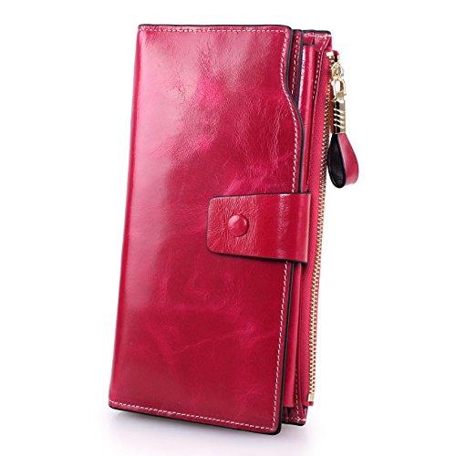 AGILITY レディース財布 長財布 財布 レザー ロングウォレット 大容量 がま口 カード入れ 高級牛革 オイル仕上げ