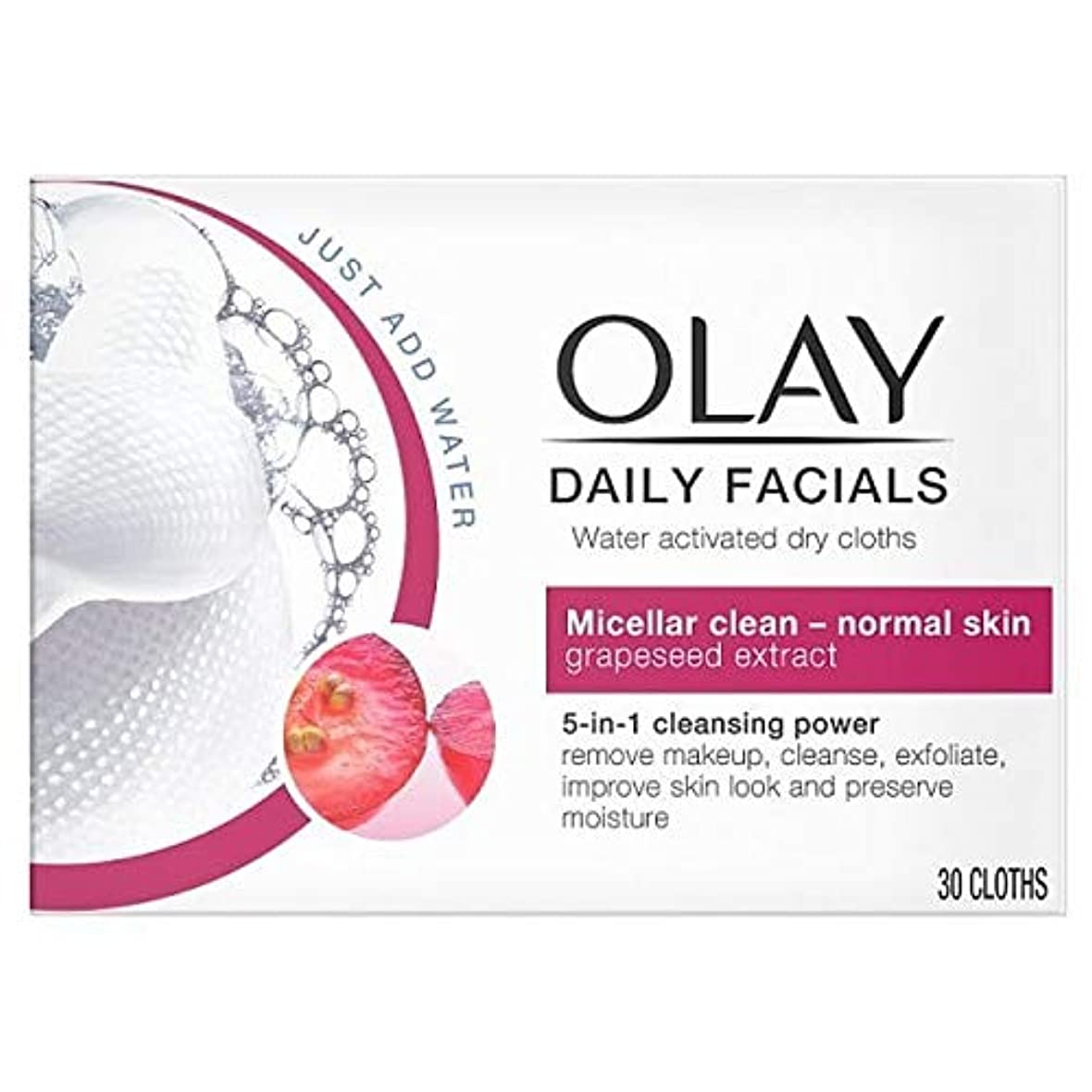 コンパイルのため単調な[Olay ] オーレイ毎日フェイシャル5-In1は乾燥布 - 正常な皮膚 - Olay Daily Facials 5-in1 Dry Cloths - Normal Skin [並行輸入品]
