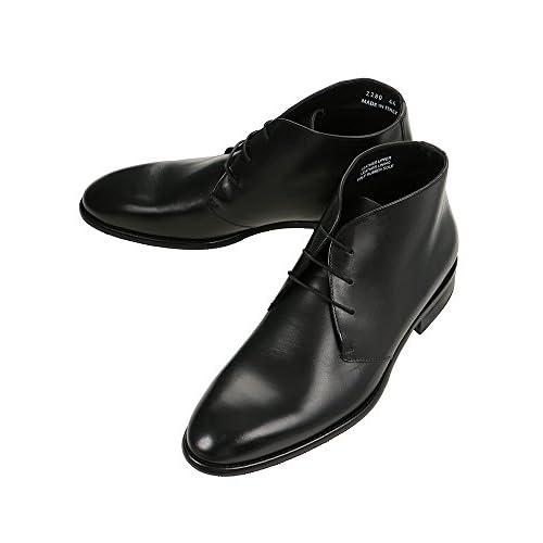 (ザ・スーツカンパニー) BARNI/キップレザー チャッカーブーツ ブラック 45