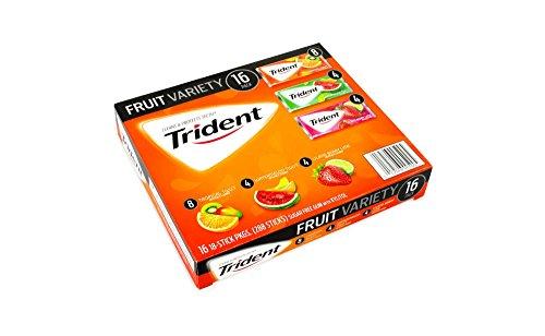 Trident Sugar-Free Fruit Gum Variety Pack トライデントシュガーフリーフルーツガムバラエティパック [並行輸入品]