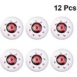 PRETYZOOM 12ピースプラスチック眼球ボールハロウィン眼球ホラー小道具衣装