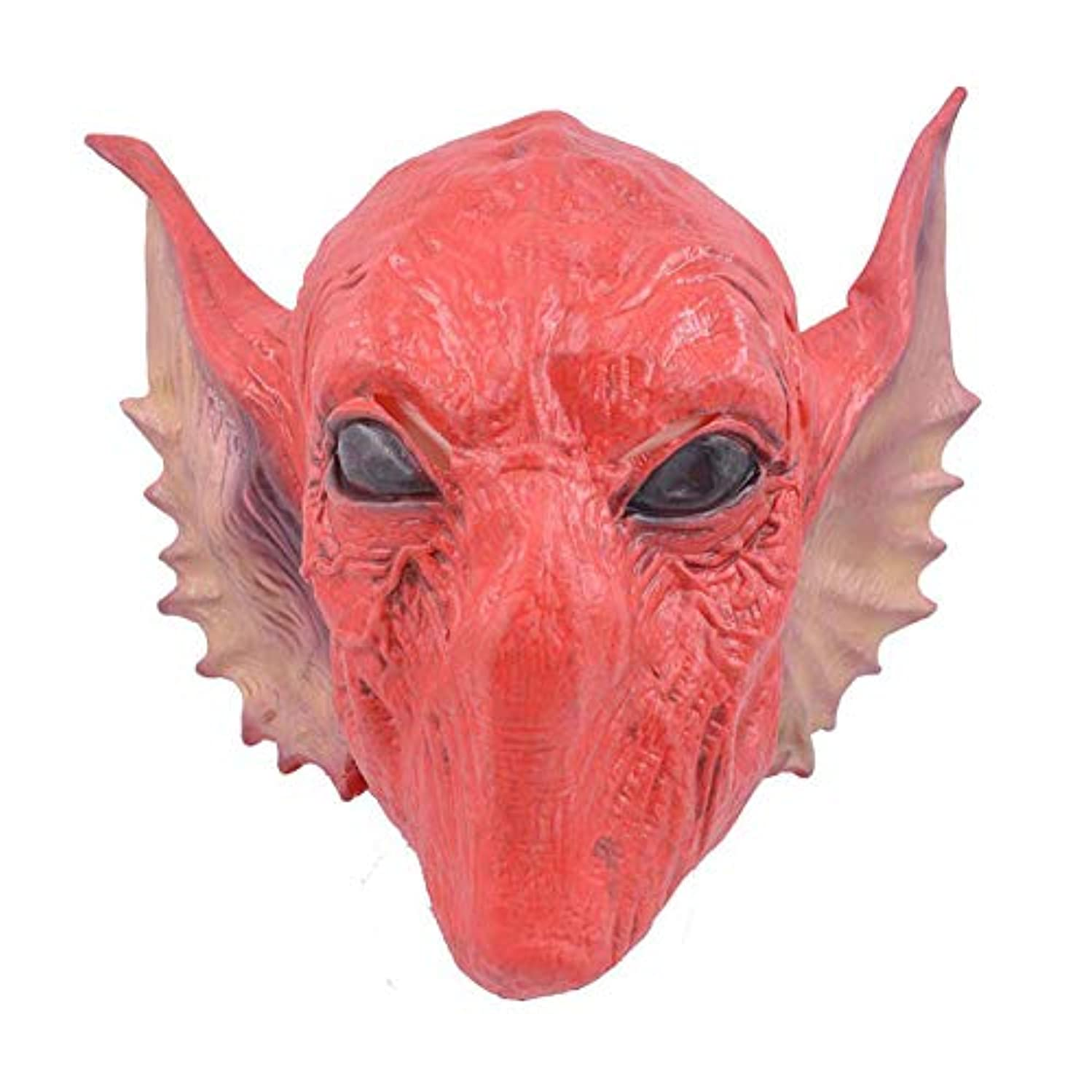 余計な刑務所生きているハロウィーンマスク新しい赤いエイリアンセットSF映画テーママスクcosホラーマスク