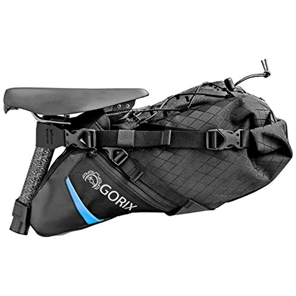 つかの間アシスト荒野GORIX(ゴリックス) 防水 撥水可能 サドルバッグ [大容量?一体型タイプ 簡単着脱式] ロードバイク マウンテンバイク 他対応 GX-7703