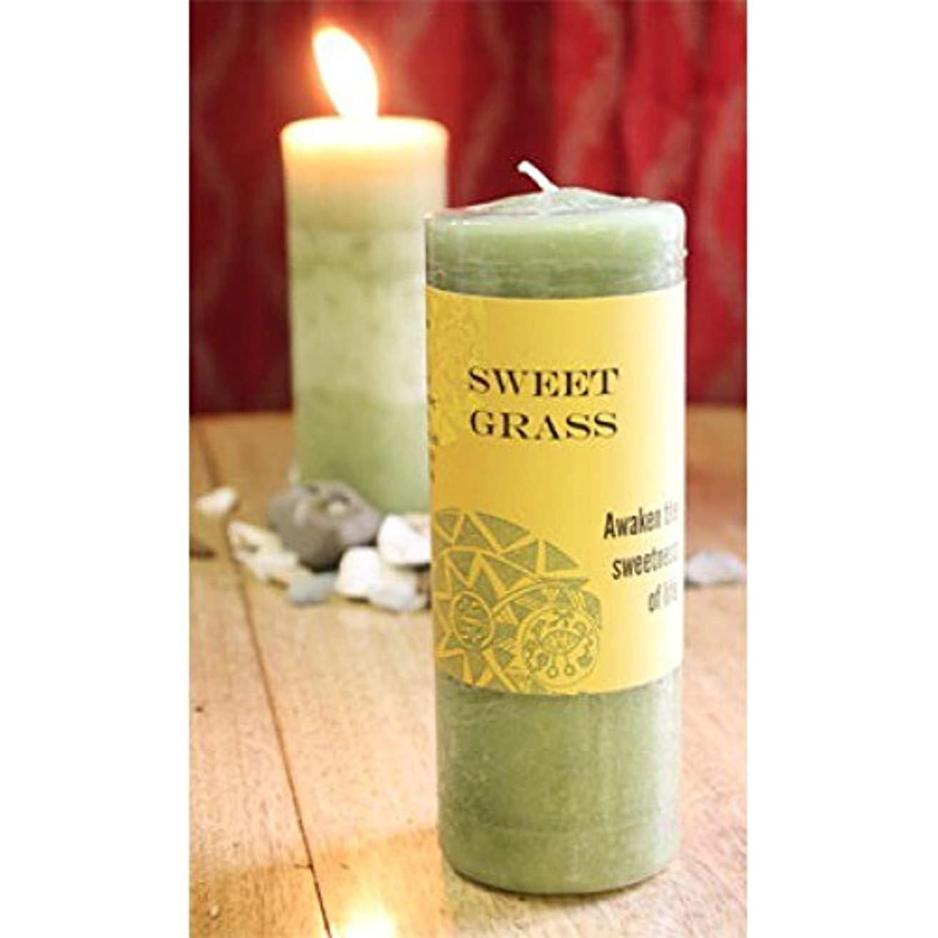 ヶ月目ガラス反射World Magic – Sweet Grass Candle
