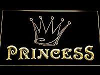 ADVPRO Princess Game Room Crown LED看板 ネオンプレート サイン 標識 Yellow 400 x 300mm st4s43-m113-y