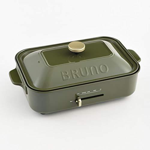 BRUNO コンパクトホットプレート BOE-21 (モスグリーン)