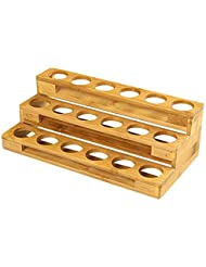 エッセンシャルオイル収納ボックス 自然木製 エッセンシャルオイルオイル 収納 ボックス 香水収納ケース はしごタイプ アロマオイル収納ボックス 18本用