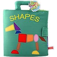 ベビーソフトあたりアクティビティBooks seven-pieceパズル非毒性赤ちゃんの最初の学習ブックwithハンドルグラフィカル認識の教育玩具0 – 3歳赤ちゃん幼児子供