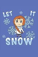 Grand Fantasy Designs - Notes: Chibi Let it Snow Winter cute kawaii - Notebook 6x9 checkered