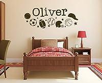 Ansyny ウォールステッカーパーソナライズ名と番号壁の装飾ビニールアート取り外し可能な家の子供の装飾ラブリー壁画57 * 20センチ