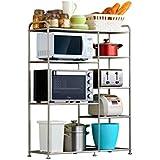 キッチン収納ラック - キッチン棚電子レンジラックキッチン収納ラック床置き多層収納ラック LJKHDF
