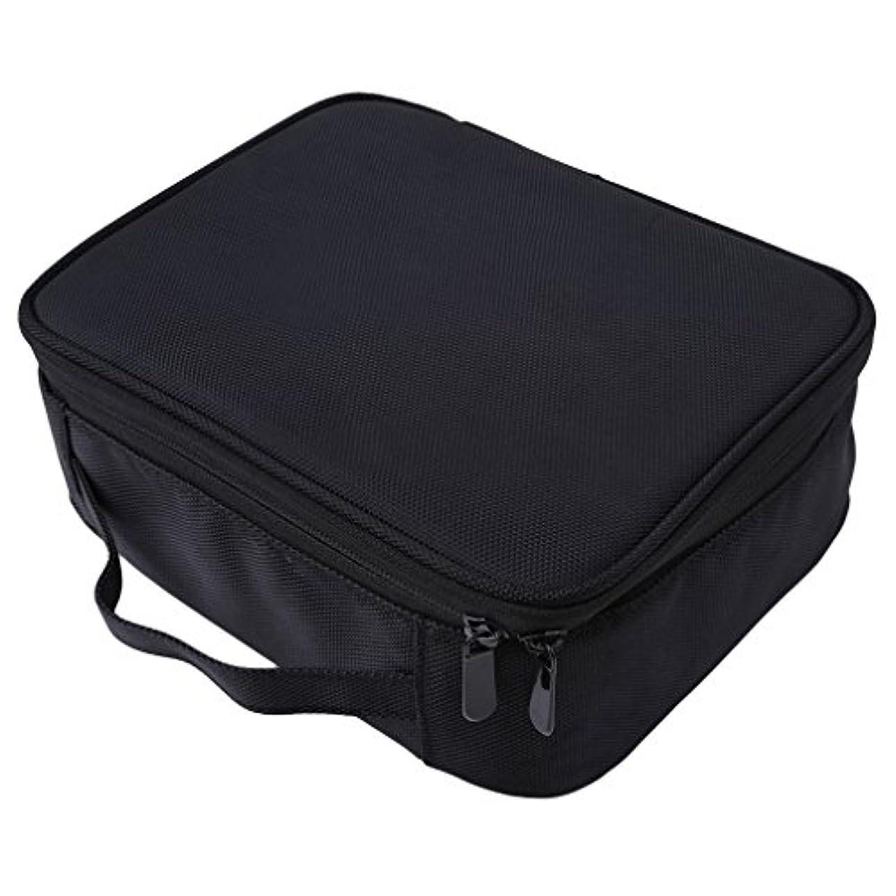 ストローク相互安全LUXWELL(ラクスウェル) メイクボックス プロ用 コスメボックス 大容量 軽量 メイク道具 化粧品収納 小物入れ 持ち運び 3way 収納ケース 調整仕切り板 2色選び (ブラック)