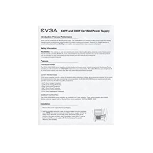 EVGA 500W 80PLUS Certified ATX12V/EPS12V Power Supply 100-W1-0500-KR ?行輸入