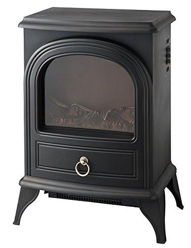 ノスタルジア 暖炉型ヒーター ブラック CHT-1540BK